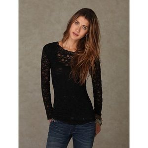 NEW Free People Scandalous Lace Top